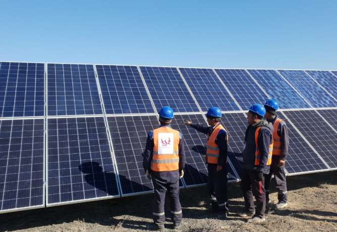Construction of a solar power plant with a capacity of 40 MW: